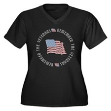 Remember the Veterans Women's Plus Size V-Neck Dar