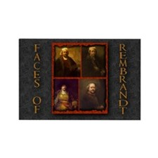 Faces of Rembrandt Rectangle Magnet