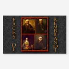 Faces of Rembrandt Rectangle Decal