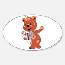 Reading Teddy Oval Decal