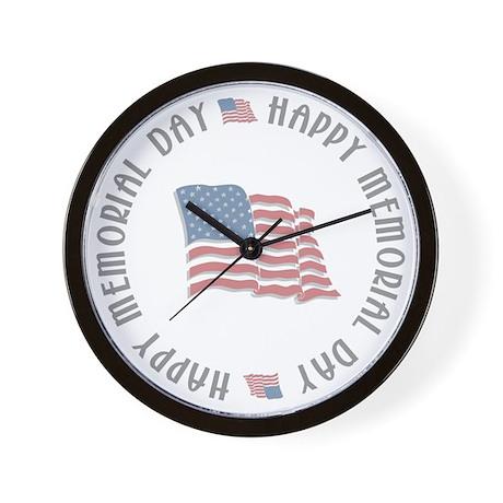 Happy Memorial Day Wall Clock