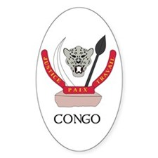 Congo Coat of Arms Oval Decal