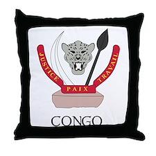 Congo Coat of Arms Throw Pillow