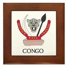Congo Coat of Arms Framed Tile