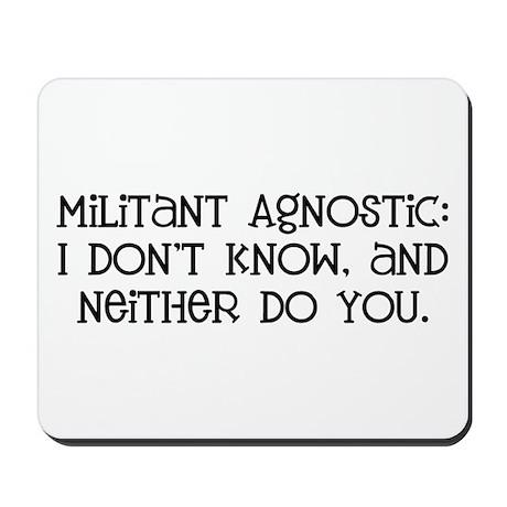 Militant Agnostic Mousepad