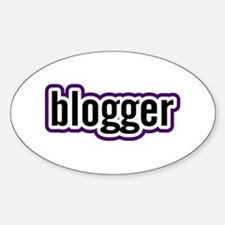 Blogger Oval Decal