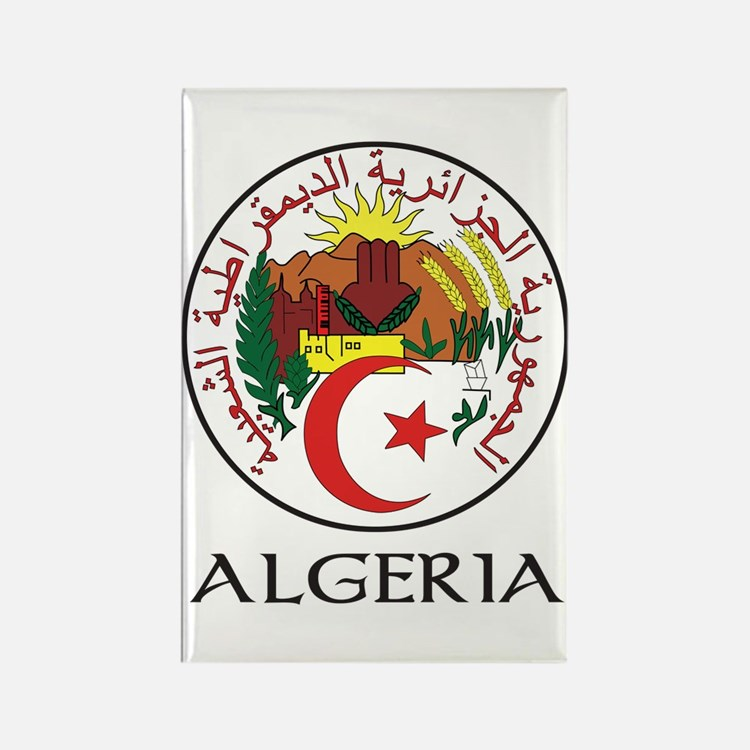 Algeria Coat of Arms Rectangle Magnet