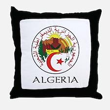 Algeria Coat of Arms Throw Pillow