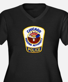 Chicago Housing PD Women's Plus Size V-Neck Dark T