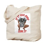 BIKER JUG MANIA/IRON CROSS Tote Bag