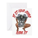 BIKER JUG MANIA Greeting Cards (Pk of 10)
