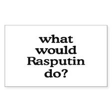 Rasputin Rectangle Bumper Stickers