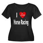 I Love Horse Racing (Front) Women's Plus Size Scoo