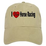 I Love Horse Racing Cap