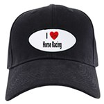 I Love Horse Racing Black Cap