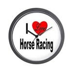 I Love Horse Racing Wall Clock