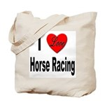 I Love Horse Racing Tote Bag
