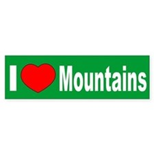 I Love Mountains West Virginia Bumper Bumper Sticker