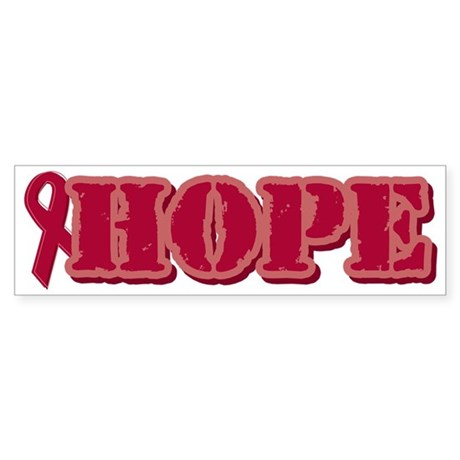 Burgundy Hope Ribbon Bumper Sticker