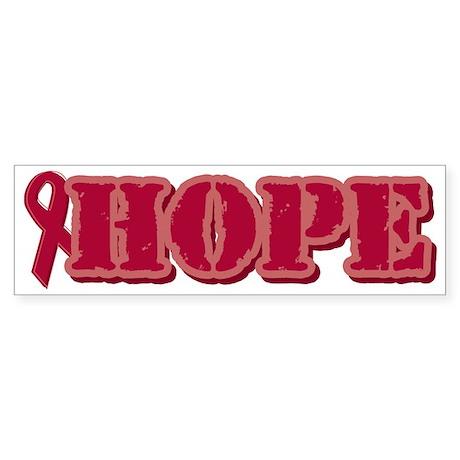 Burgundy Hope Ribbon Bumper Sticker (10 pk)