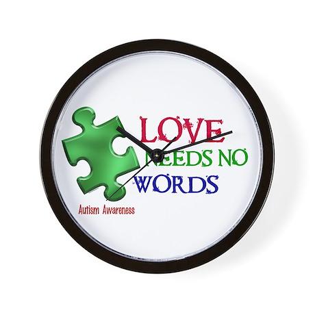 Love Needs No Words 1 Wall Clock