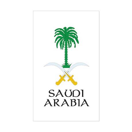 Saudi Arabia Coat of Arms Rectangle Sticker