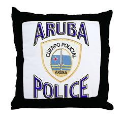 Aruba Police Throw Pillow