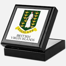 BVI Coat of Arms Keepsake Box