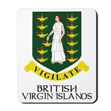 BVI Coat of Arms Mousepad