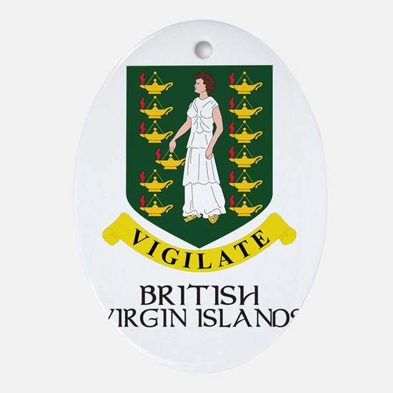 BVI Coat of Arms Oval Ornament