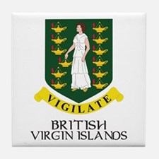 BVI Coat of Arms Tile Coaster