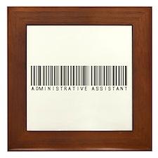 Admin Asst Barcode Framed Tile