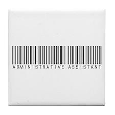 Admin Asst Barcode Tile Coaster