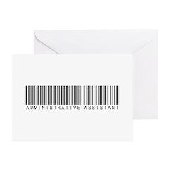Admin Asst Barcode Greeting Card