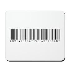 Admin Asst Barcode Mousepad