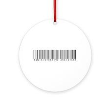 Admin Asst Barcode Ornament (Round)