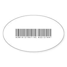 Admin Asst Barcode Oval Decal