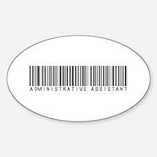 Admin Asst Barcode Oval Sticker (10 pk)