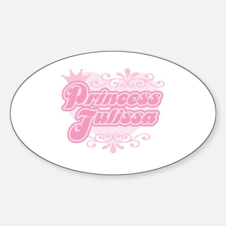 """Princess Julissa"" Oval Decal"