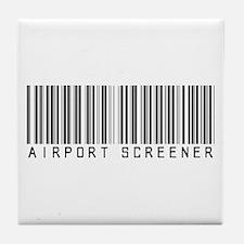 Airport Screener Barcode Tile Coaster