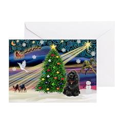 XmasMagic/Cocker (Blk) Greeting Cards (Pk of 20)