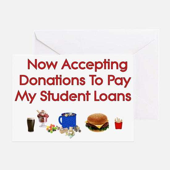 Student Loan Donations Greeting Card