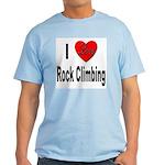 I Love Rock Climbing Light T-Shirt