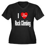I Love Rock Climbing (Front) Women's Plus Size V-N