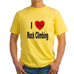 I Love Rock Climbing (Front) T