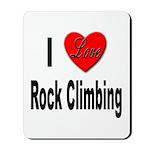 I Love Rock Climbing Mousepad