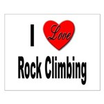 I Love Rock Climbing Small Poster