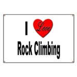 I Love Rock Climbing Banner