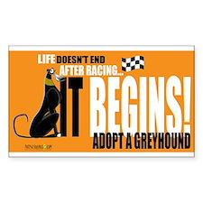 Life After Racing Rectangle Decal