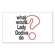 Lady Godiva Rectangle Decal